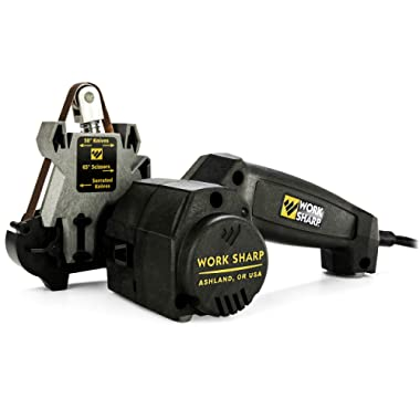 Work Sharp Knife & Tool Sharpener - precision sharpening guides, premium flexible abrasive belts, repeatable and consistent results, Standard Packaging