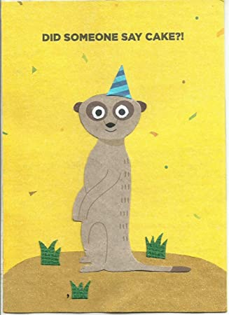 Birthday Card Funny Meerkat Design Fair Trade Made With Recycled Handmade