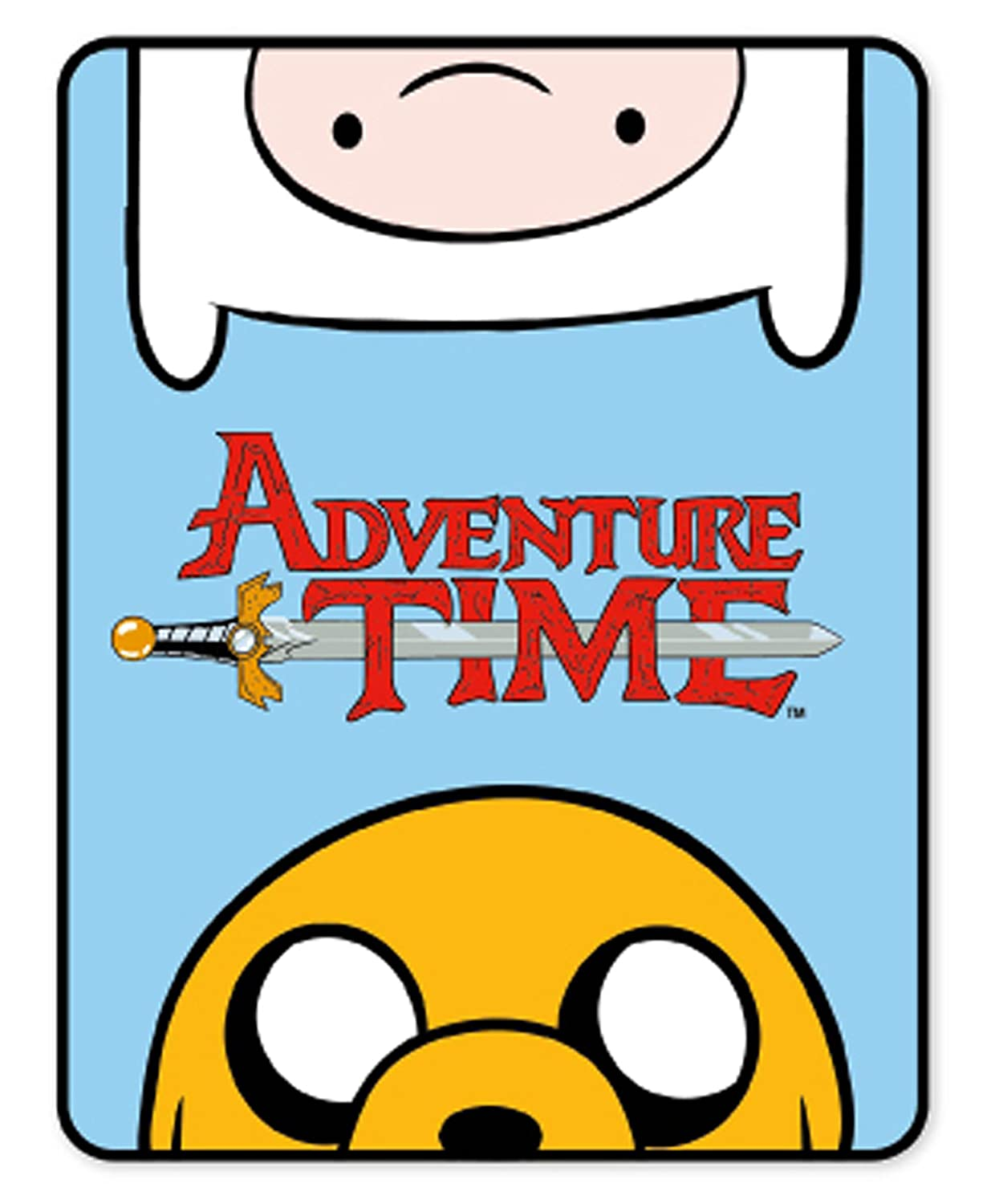Couverture Polaire Motif Adventure Time 120cm x 150cm FB2-ADV-TIM-20