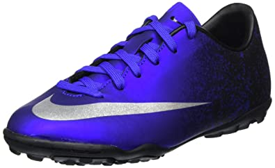 Nike Youth MercurialX Victory V Ronaldo Turf Shoes (10.5C) Deep Royal Blue 4c34ccdcf