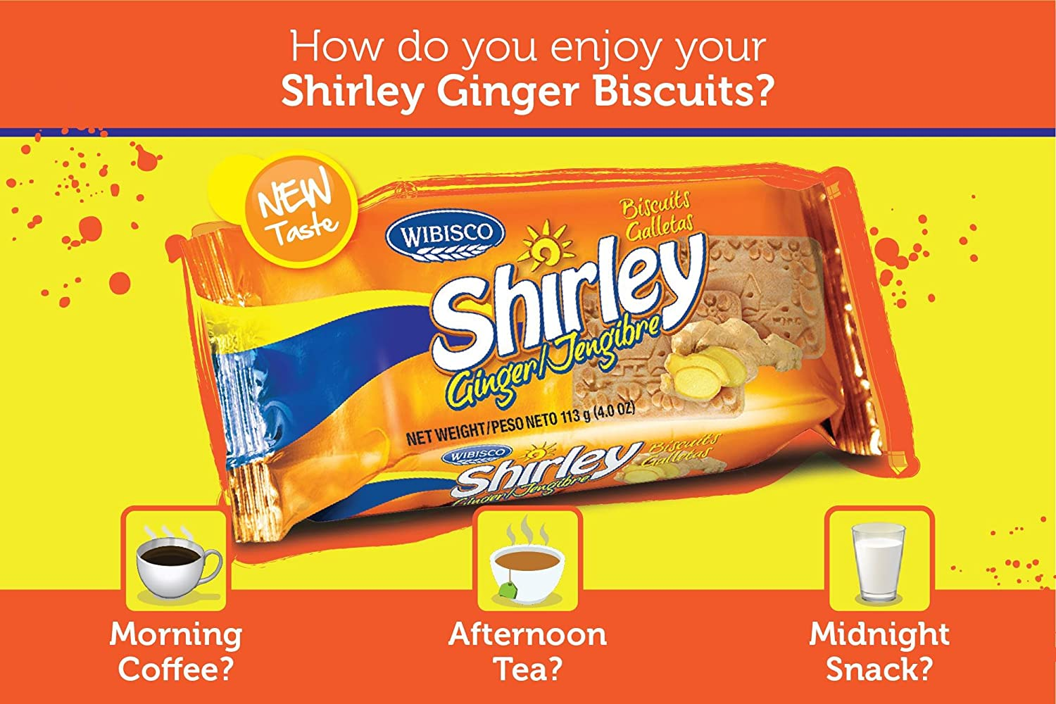 Amazon.com : Shirley Ginger Biscuits, 3.7 Ounce (Pack of 24) : Grocery & Gourmet Food