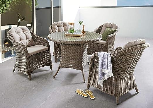 Destiny Key West - Juego de mesa y sillas para jardín: Amazon.es: Jardín