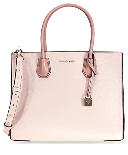 5858c13fff6a Amazon.com  MICHAEL Michael Kors Mercer Pebbled Leather Accordion Crossbody  - Soft Pink  Shoes