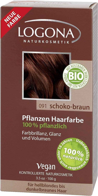 Tinte de pelo de Logona, color marrón chocolate, 100 g