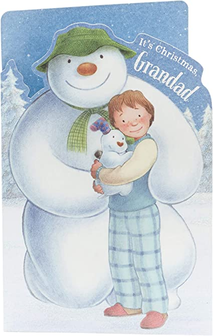 Grandad Christmas Card Christmas Gifts For Men Christmas Gift Card Snowman And The Snowdog Lovely Grandad Amazon Co Uk Office Products