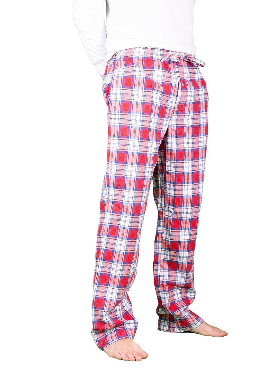 Men s Cotton Flannel Pyjama Bottom Drawstring Trousers (L a86e87595