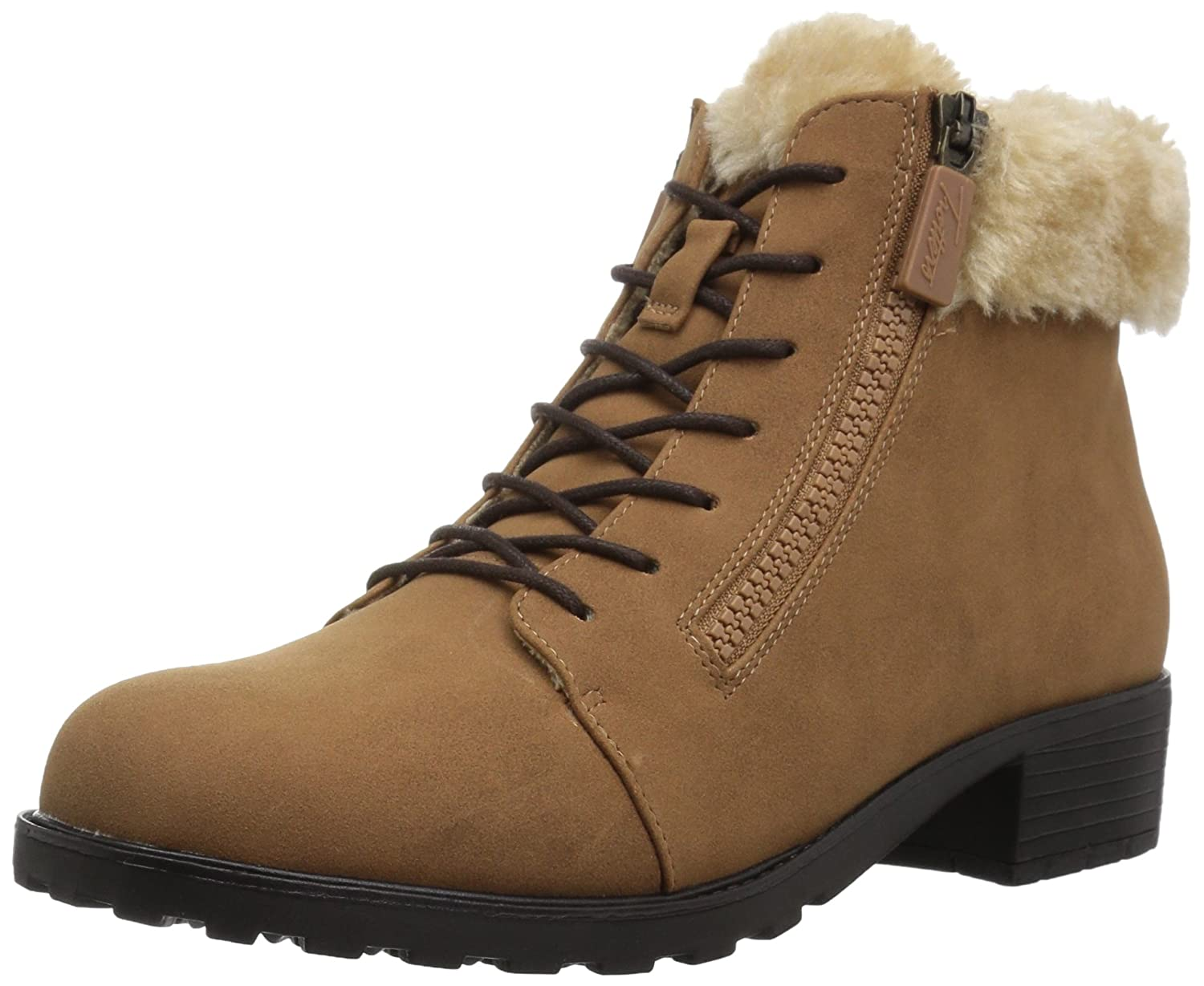 Trotters Women's Below Zero Ankle Bootie B01N2VUTYK 6 2W US|Chestnut/Natural