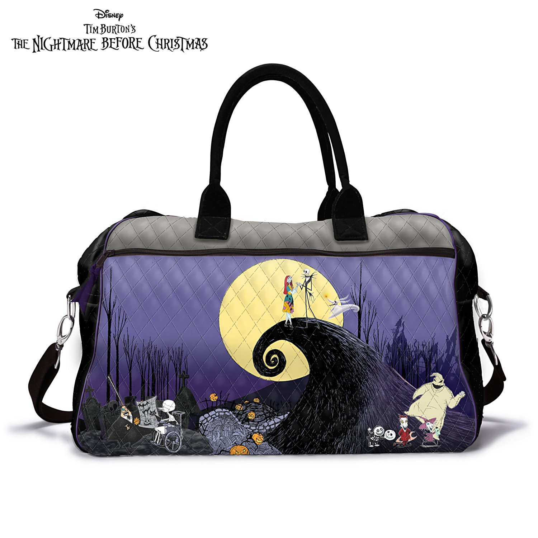 Disney Tim Burton's The Nightmare Before Christmas Quilted Weekender Tote Bag by The Bradford Exchange