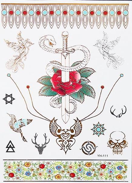 Yh111 Tatouage Faux Pour Corps Tattoo Bras Chevilles