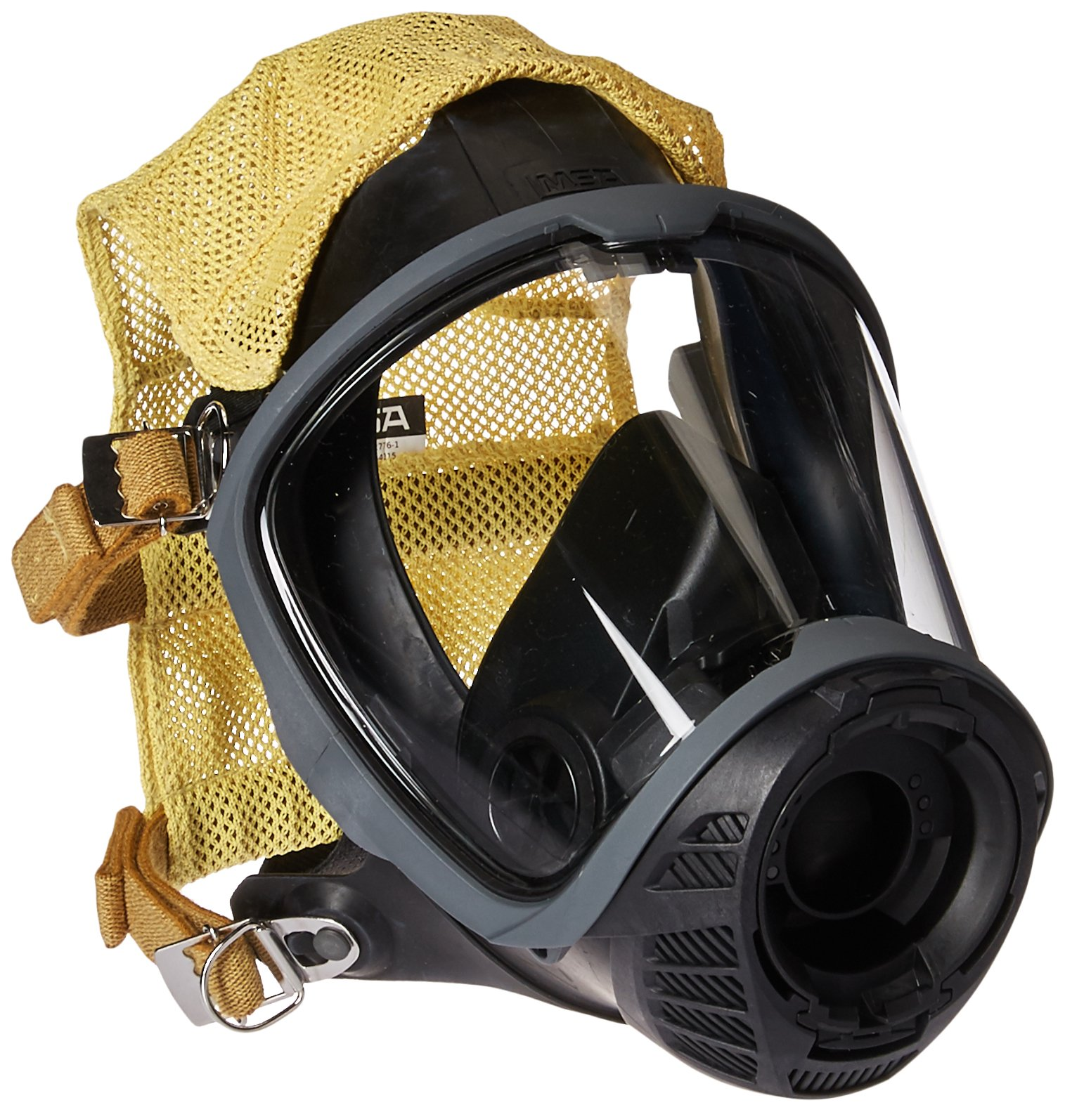 MSA Safety 10156460 Facepiece, G1, Fire Service, Nose Cup with 4 Point Adjustable Cloth -Head Harness, Large