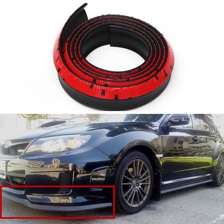 Ej 8 2 feet 2 5 meters gm carbon fiber front bumper spoiler lip roof spoiler body kit clip stickers 100 waterproof protection cool black