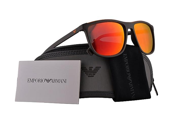 Emporio Armani EA4109 gafas de sol w/Espejo Rojo Lente 57mm ...