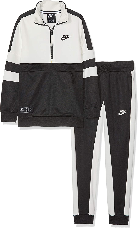 Nike B Air TRK Suit Cuff Chándal, Niños, Black/Black/Sail, XS ...