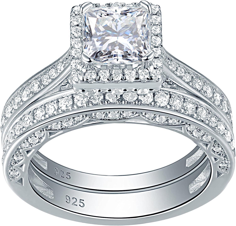 Details about  /2.50 Ct Round Cut Diamond Bridal Engagement Set 925 Sterling Silver