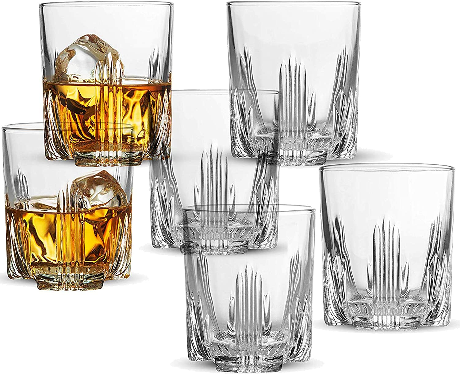 Amazon Com Whiskey Glass Set Italian Crafted Whiskey Glasses 6 Piece Exquisite Cocktail Glasses For Whiskey Bourbon Scotch Cocktails Alcohol Etc 9 5 Oz Drinking Glasses 6 Whiskey Glasses Liquor Decanters
