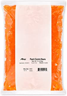 product image for Albanese Candy Peach Gummi Bears, 5 Pound Bag, Peach-Flavored Soft Chewy Gummy Bears, Single-Flavor Gummies in Bulk Package, Gluten Free Dairy Free Fat Free
