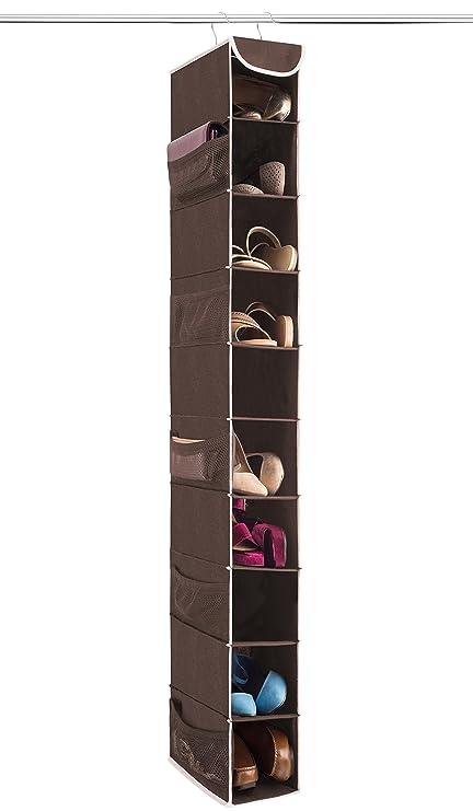 Genial ZOBER 10 Shelf Hanging Shoe Organizer, Shoe Holder For Closet   10 Mesh  Pockets