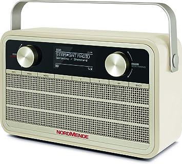 Nordmende Transita 120 Ir Tragbares Internetradio Dab Radio Ukw Wlan 24 Stunden Akku Wecker Sleeptimer Kopfhöreranschluss 5 Watt Mono Lautsprecher Beige Heimkino Tv Video