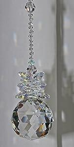 Hanging Crystal Suncatcher,Window ornament,Feng Shui decoration,Rainbow Maker,Crystal Ball Sphere,Hanging Crystal Angel,