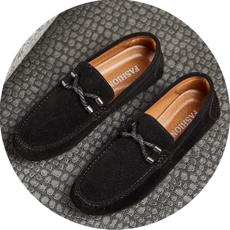 crazy-shop Men Casual Shoes Tassel Men Shoes Men Loafers Moccasins Slip On Mens Loafers Driving Black,Black,6.5