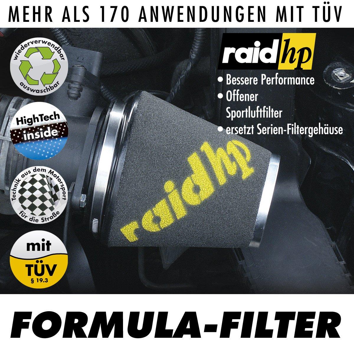 Raid hp 526320 Formula Filtro de aire deportivo
