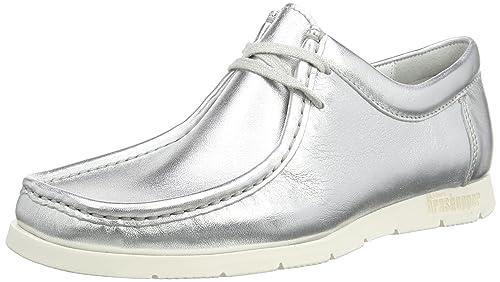 SiouxGrashopper-D-141 Macas - Mocasines Mujer, Color Plateado, Talla 39.5 EU: Amazon.es: Zapatos y complementos