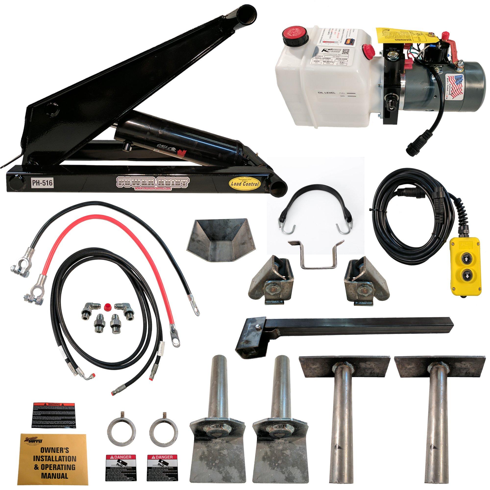 Hydraulic Hoist Kit- 16,000 lbs- Dump Trailer- 12V- Scissor Hoist Kit Complete. by Premium Supply