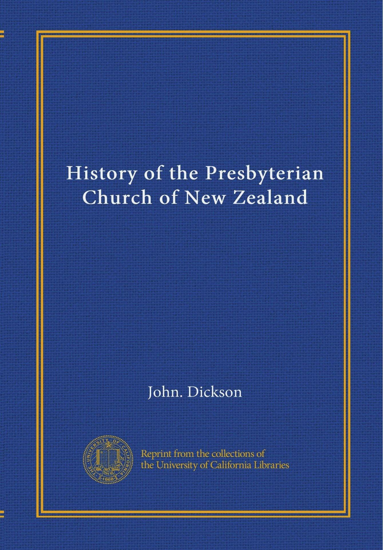History of the Presbyterian Church of New Zealand pdf