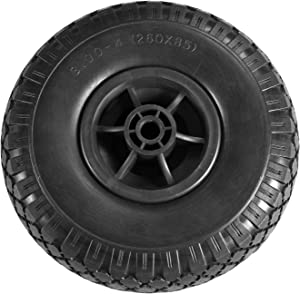 """Liberty Garden Products 4005-P 10"""" Flat Free tire for Hose Reel, Black"""
