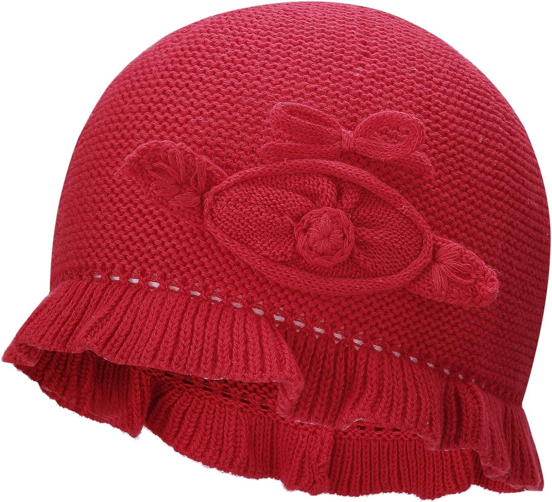 vivobiniya Toddler Baby Girl Lovely Flower Knit Hats Newborn Hats 3 Colours 0-4Y