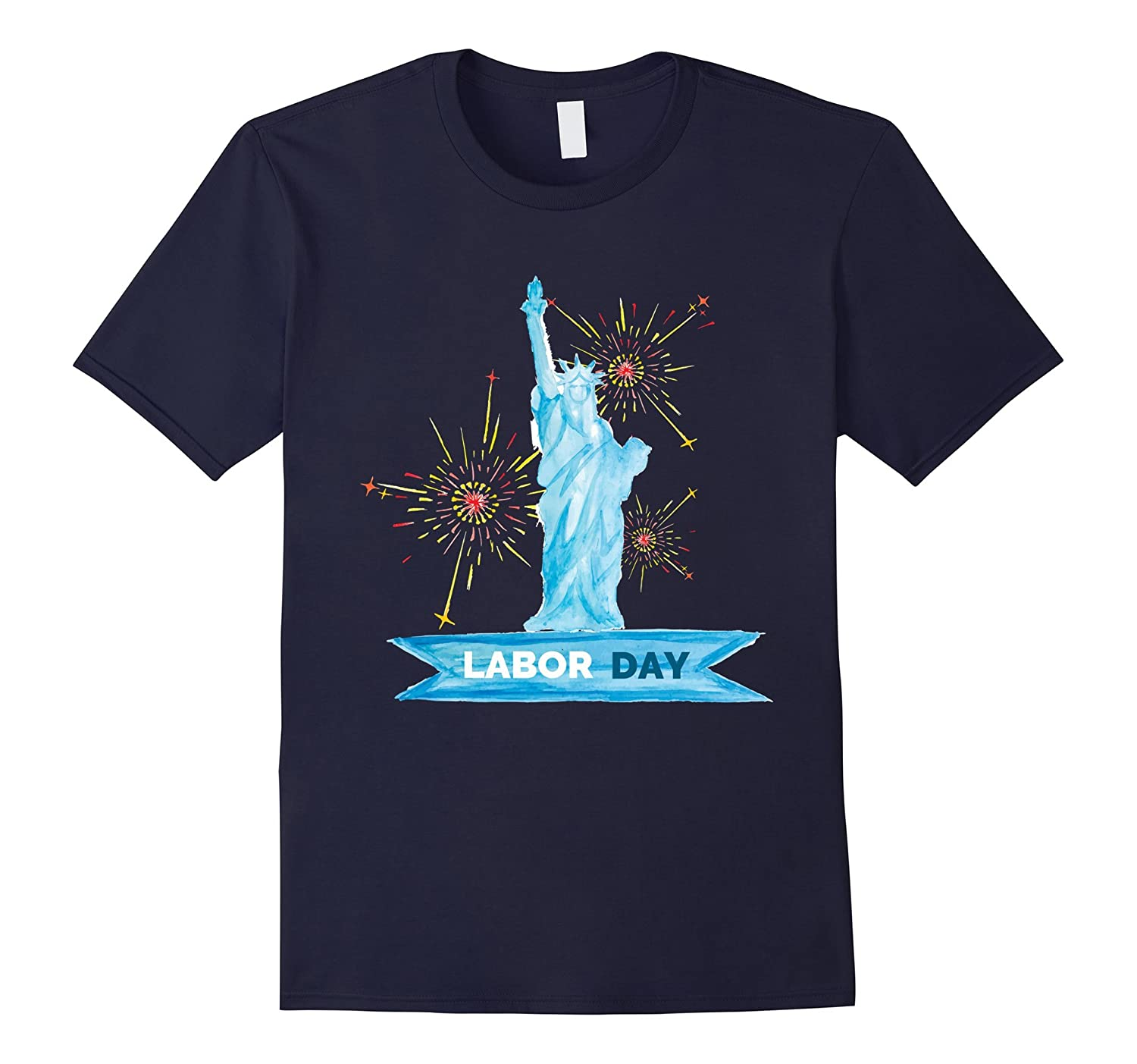 Labor Day With Statue Of Liberty T-Shirt-BN