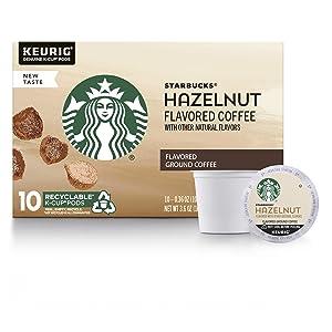Starbucks Hazelnut Flavored Medium Roast Single Cup Coffee, 10 ct