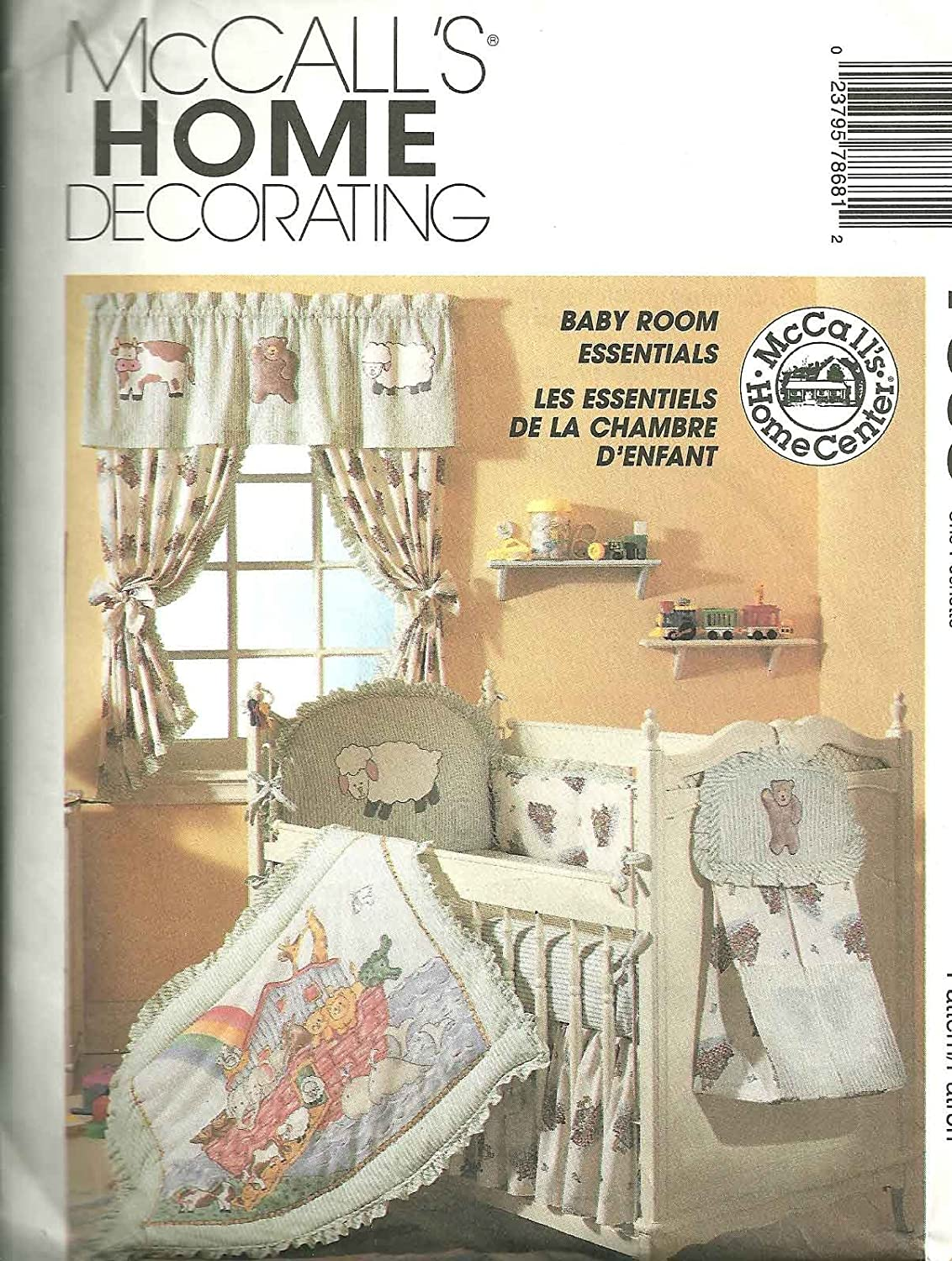 McCall's 7868 Sewing Pattern Baby Room Essentials