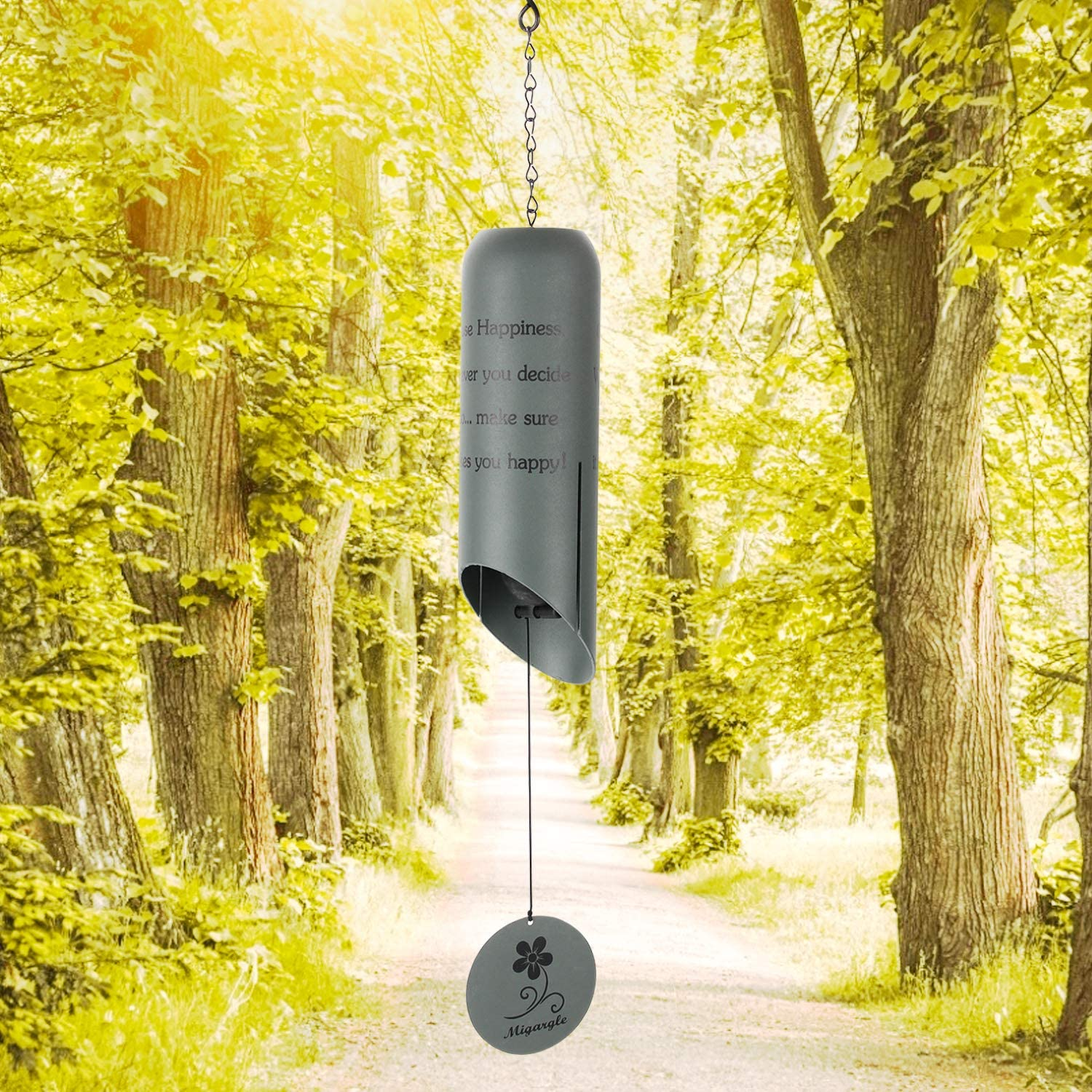 Migargle Wind Chimes Heroic Wind Bell-Outdoor Wind Chimes for Garden, Windows, Gift for Thanksgiving, Christmas