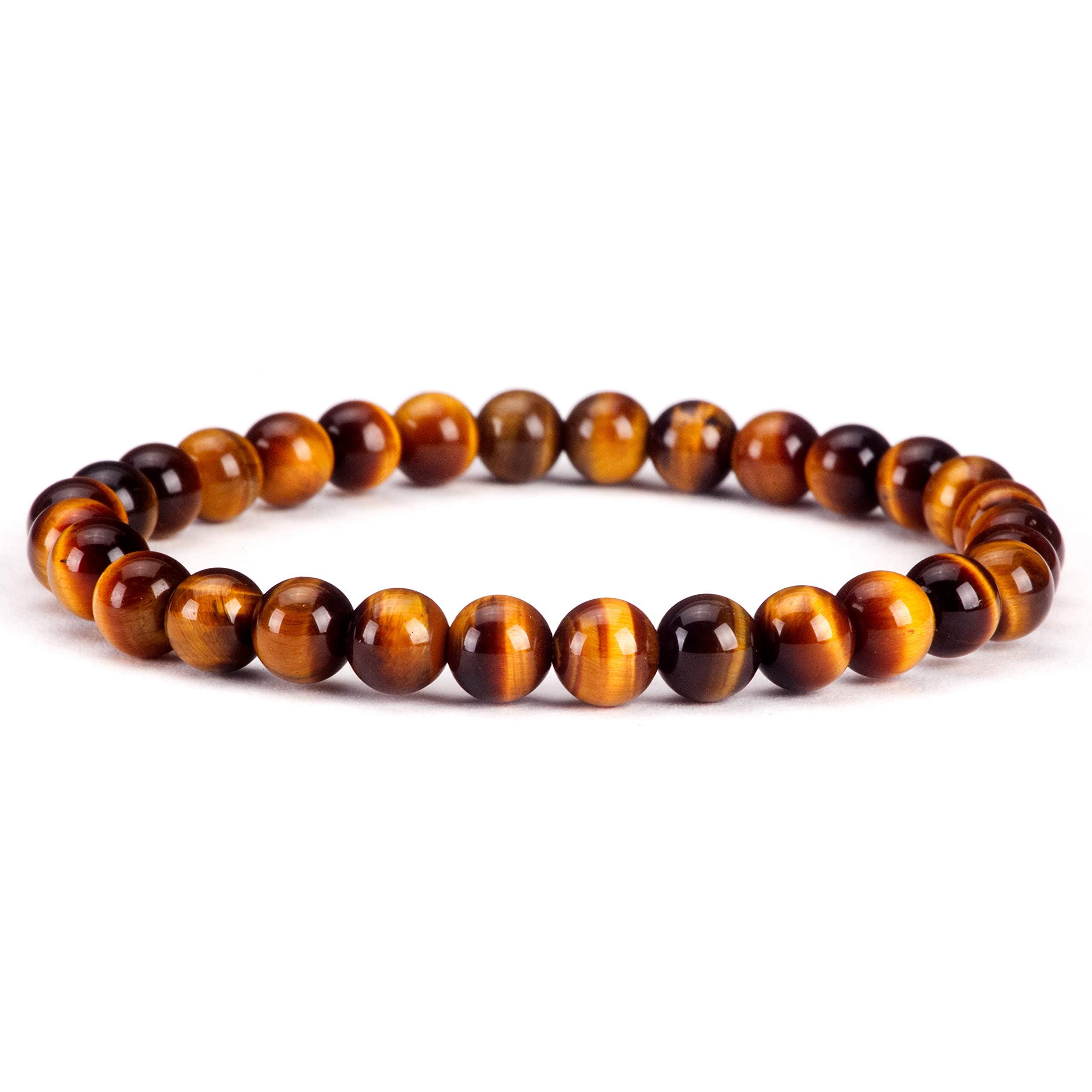 Cherry Tree Collection | Small, Medium, Large Sizes | Gemstone Beaded Stretch Bracelet | 6mm Round Beads