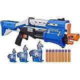 NERF Fortnite TS-R Blaster & Llama Targets -- Pump Action Blaster, 3 Llama Targets, 8 Official Mega Darts -- for Youth, Teens