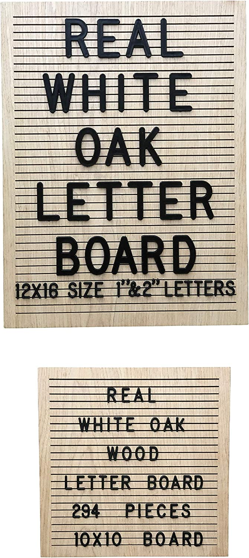 Farmhouse 12x16 Classroom Office Gift Modern Upscale Wooden Wall Decor Real Wood No Felt White Oak Letter Message Board