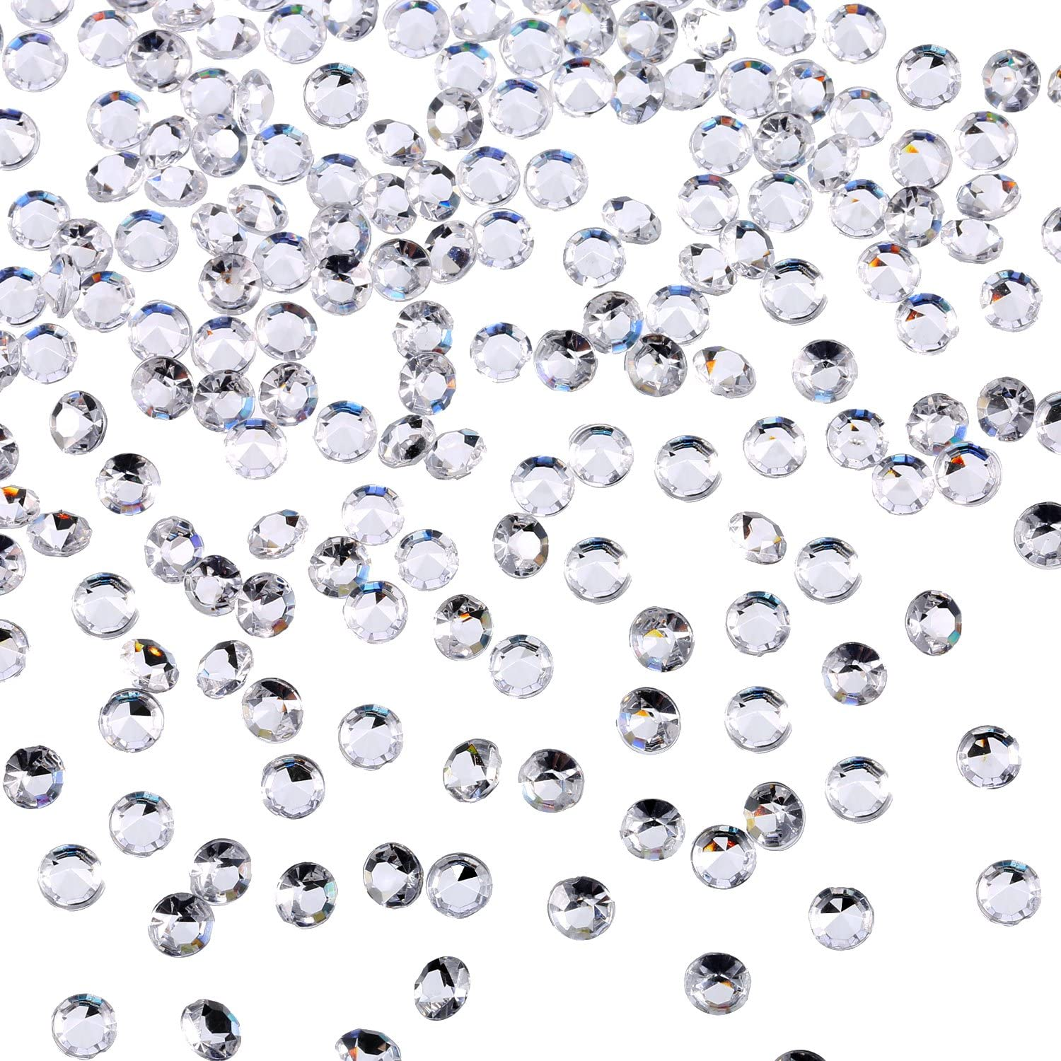10000 Clear Wedding Table Scatter Confetti Crystals Acrylic Diamonds Rhinestones for Table Centerpiece Decorations Wedding Decorations Bridal Shower Decorations Vase Beads (Clear, 4.5 MM)