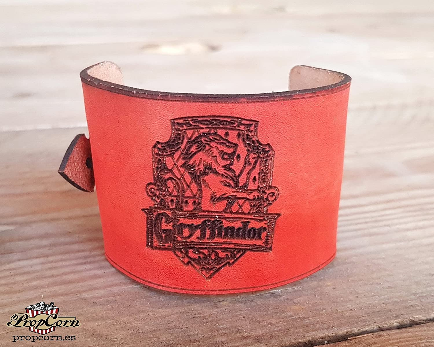 Harry Potter Gryffindor Wristband. Wears the colour of your Hogwarts House with Pride, made of high quality leather.