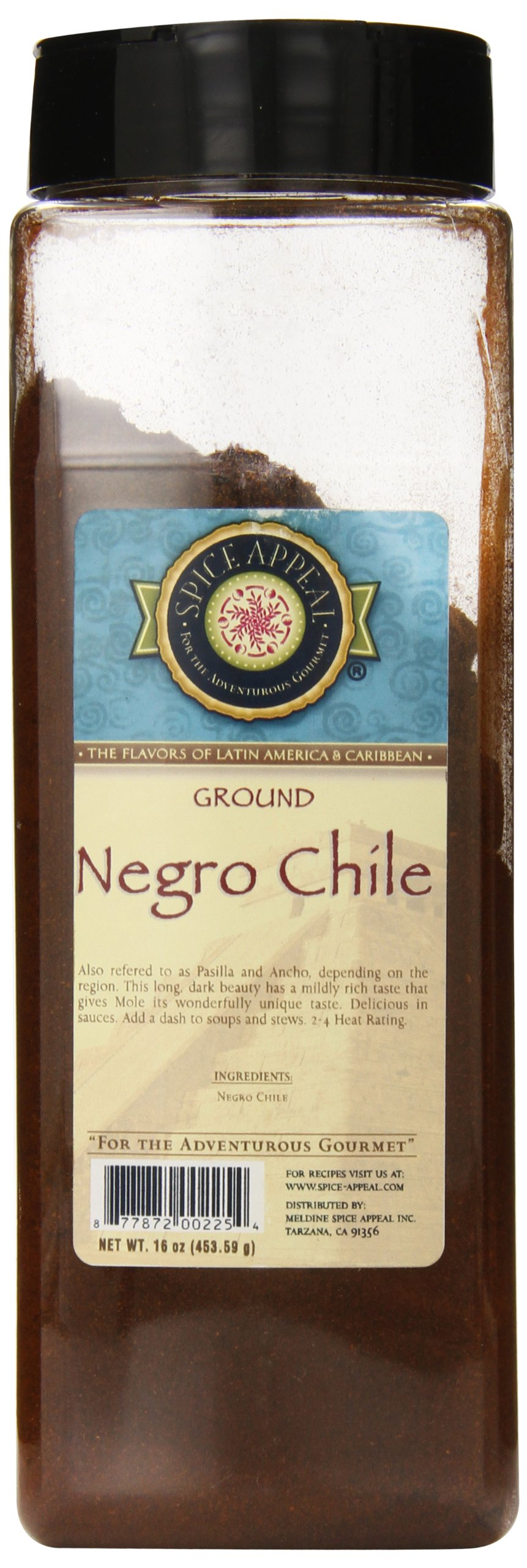 Spice Appeal Negro Chile Ground, 16 Ounce