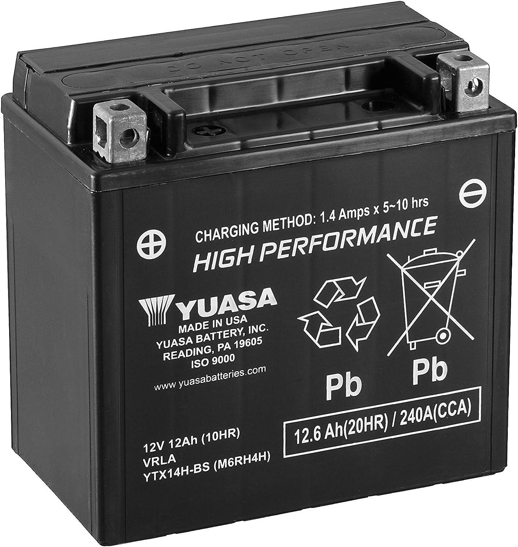 Bater/ía de Alto Rendimiento sin Mantenimiento WC Yuasa YTX14H-BS