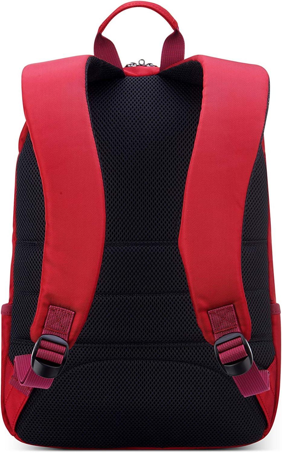 DELSEY PARIS Sac /à dos femme Rouge ESPLANADE 2 compartiments protection PC13.3
