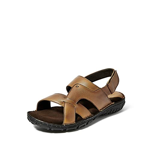 1771b02fb Burwood Men s Leather Formal Sandals  Buy Online at Low Prices in India -  Amazon.in