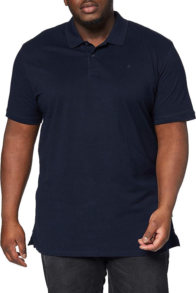 JACK & JONES Jjebasic Polo SS PS Camisa, Azul, 4XL para Hombre ...