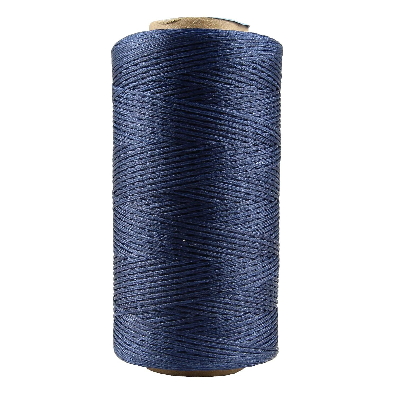 Cordón de hilo encerado de algodón 150 D de 0,8 mm de diámetro para costura de cuero, pulsera, collar, bisutería: Amazon.es: Juguetes y juegos
