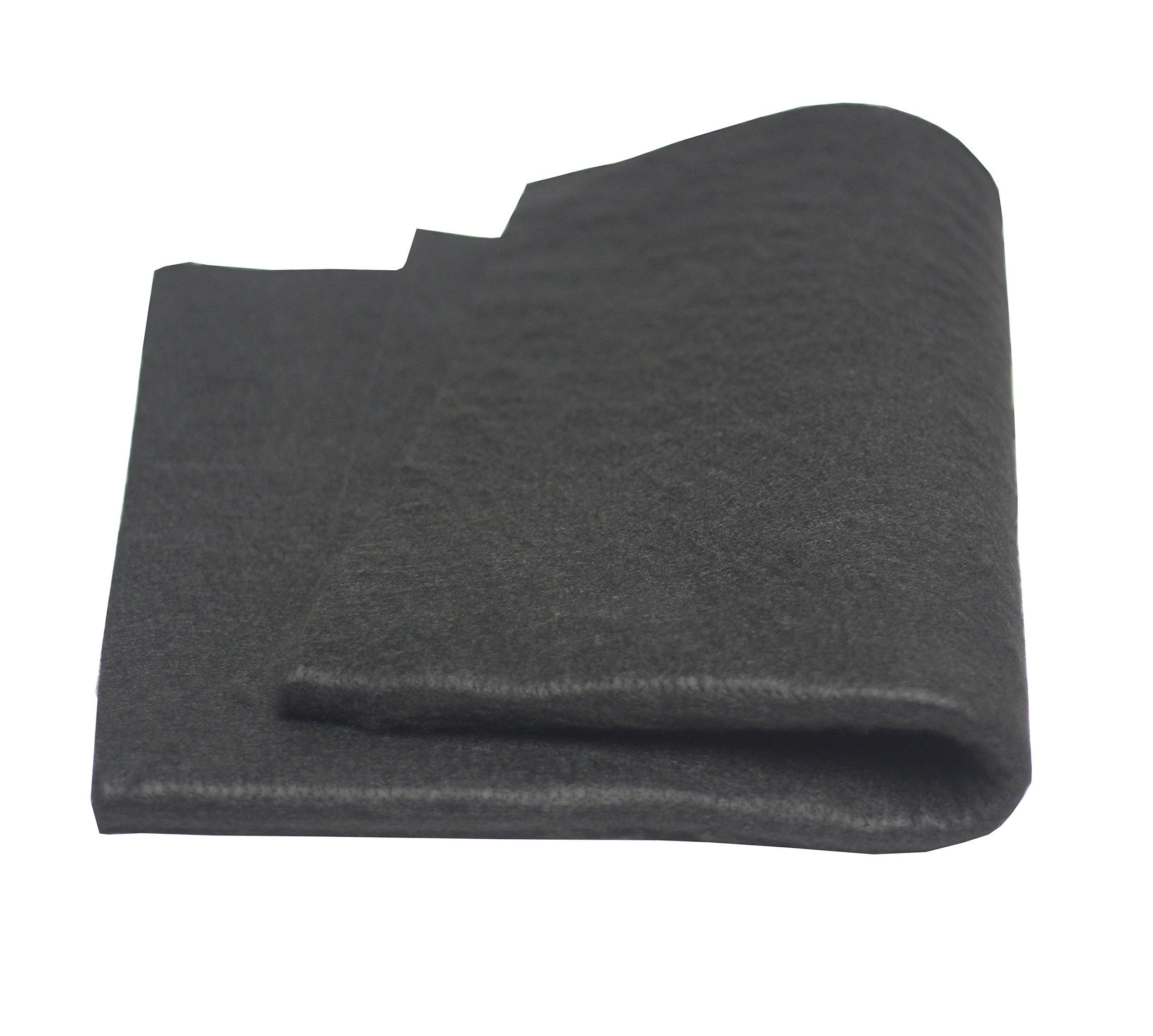 Hansway High Temp 18'' X 24''(WL) Felt Carbon Fiber Welding Blankets Black (18 x 24 inches)