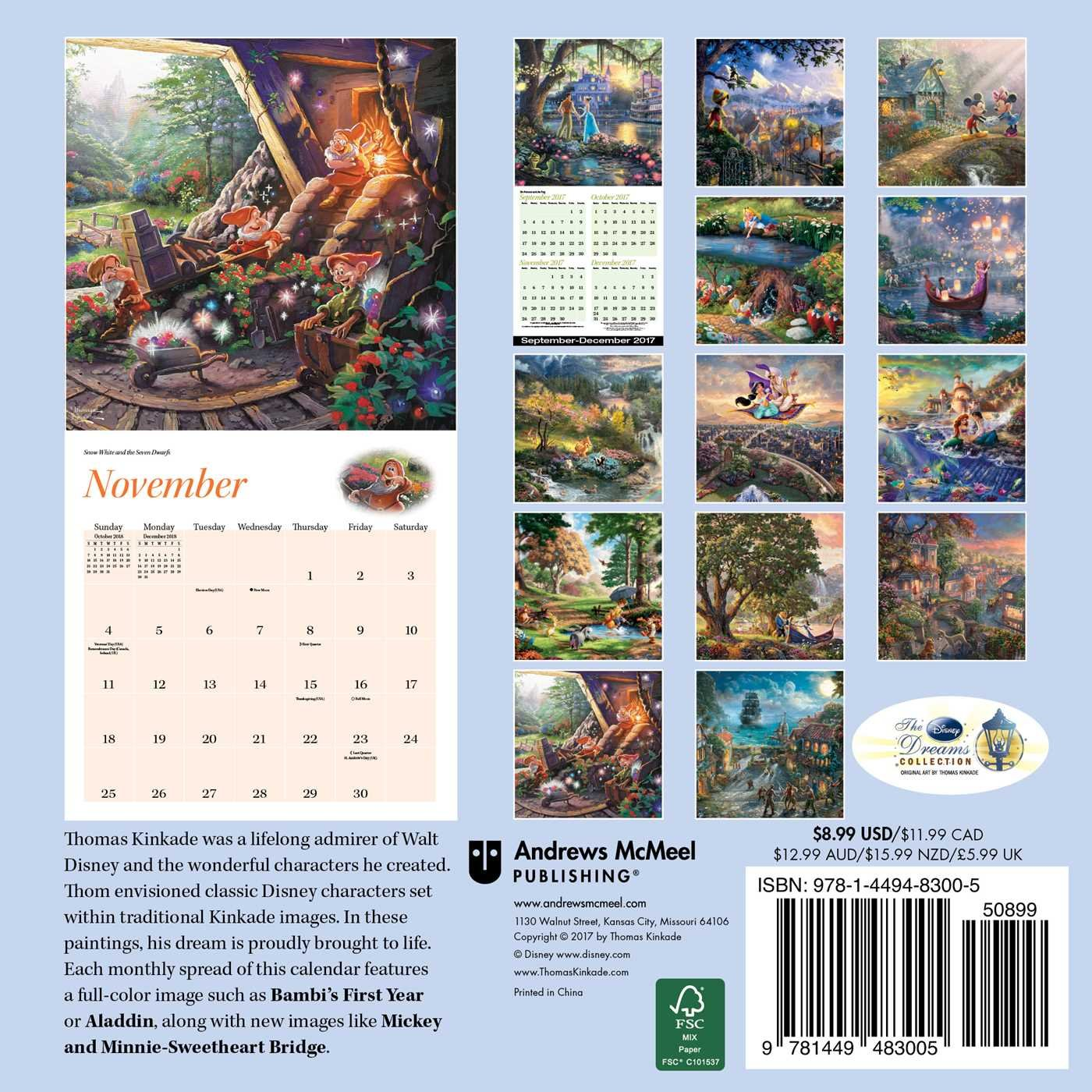 Amazon.com: Thomas Kinkade: The Disney Dreams Collection 2018 Mini