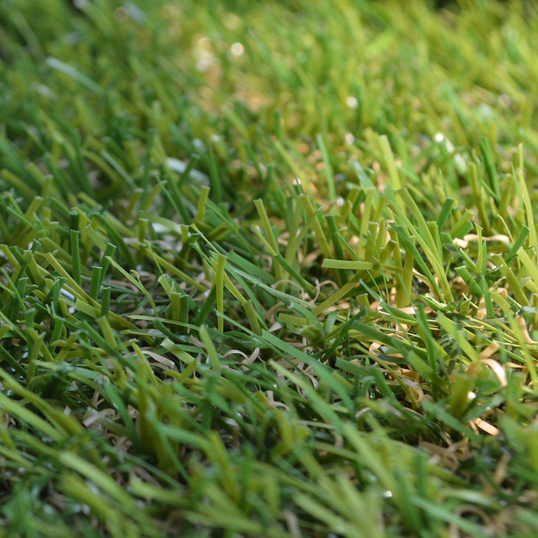 Realistic Indoor Outdoor Garden Premium Artificial Grass Lawn Turf (4 ft x 13 ft)