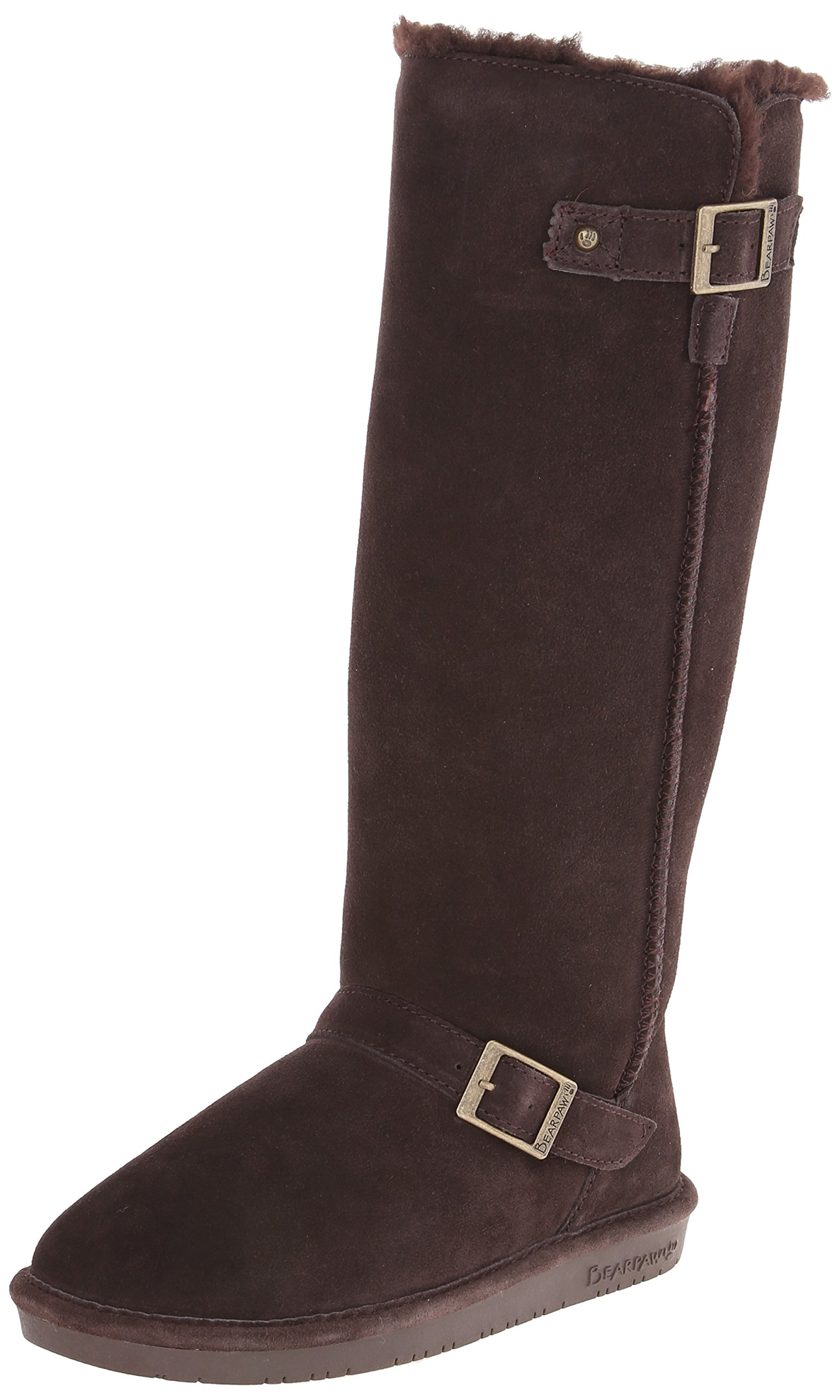 Bearpaw Womens Johanna Boot Chocolate Size 10