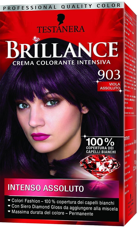 Eccezionale Testanera - Brillance, Crema Colorante Intensiva, 903 Viola  SU66
